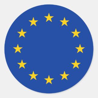 Europa Etiquetas Redondas