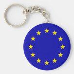 Europa Flag Basic Round Button Keychain