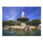 Europa, Francia, Aix-en-Provence. Fontaine de Tarjetas Postales