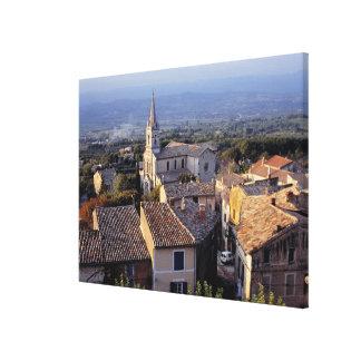 Europa, Francia, Bonnieux. Caídas de la luz de la  Impresiones En Lienzo Estiradas