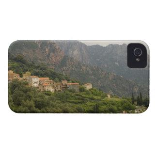 Europa, Francia, Córcega, Ota.  Ciudad de Ota y iPhone 4 Carcasa