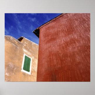 Europa, Francia, el Rosellón. Las paredes colorida Póster