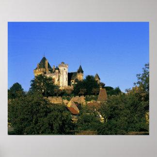 Europa, Francia, Montforte. El castillo medieval Poster