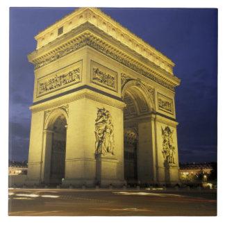 Europa, Francia, París. Arco del Triunfo Azulejo Cuadrado Grande