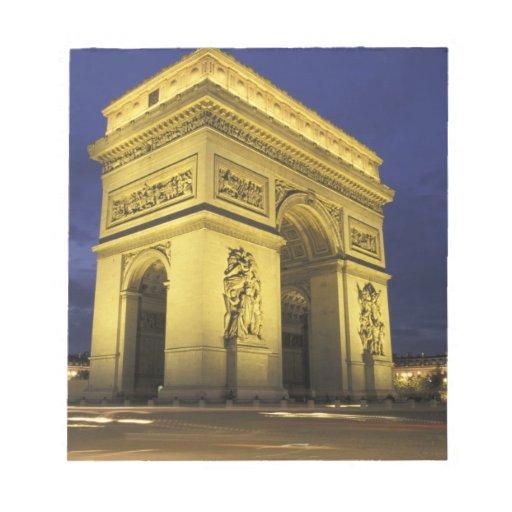 Europa, Francia, París. Arco del Triunfo Libretas Para Notas