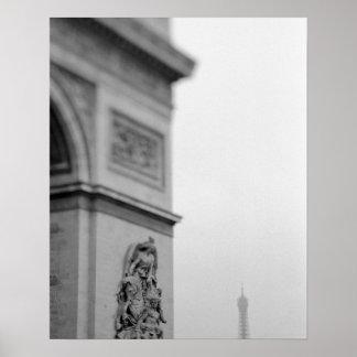 Europa, Francia, París. Arco del Triunfo y 2 Impresiones