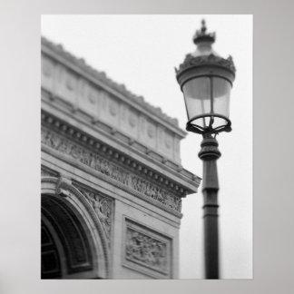 Europa, Francia, París. Arco del Triunfo y Póster
