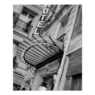 Europa, Francia, París. Detalle del hotel de la ma Posters
