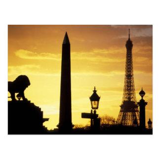 Europa, Francia, París, lugar de Concorde Tarjetas Postales