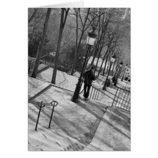 Europa, Francia, París, Montmartre: Mañana encendi Tarjeta De Felicitación