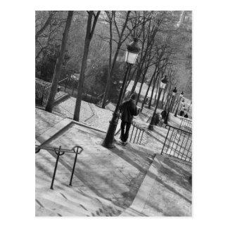 Europa, Francia, París, Montmartre: Mañana Tarjeta Postal
