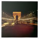 Europa, Francia, París. Precipitaciones del tráfic Azulejo Cuadrado Grande