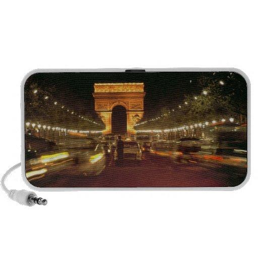 Europa, Francia, París. Precipitaciones del tráfic PC Altavoces