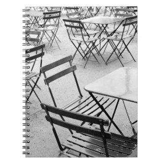 Europa, Francia, París. Sillas, Jardin du 3 Libros De Apuntes Con Espiral
