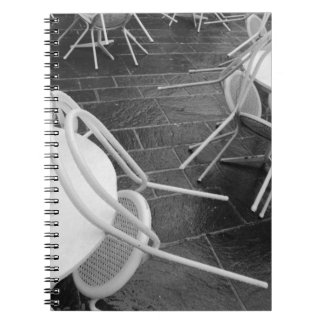 Europa, Francia, París. Sillas, Jardin du 4 Spiral Notebook