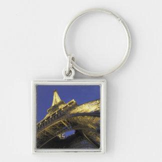 Europa, Francia, París, torre Eiffel, igualando 2 Llavero Cuadrado Plateado