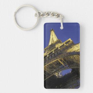 Europa, Francia, París, torre Eiffel, igualando 2 Llavero Rectangular Acrílico A Doble Cara