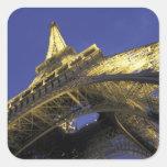 Europa, Francia, París, torre Eiffel, igualando 2 Calcomania Cuadradas