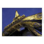 Europa, Francia, París, torre Eiffel, igualando 2 Tarjeta De Felicitación