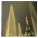 Europa, Francia, París, torre Eiffel, igualando Azulejo Cuadrado Grande