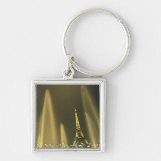 Europa, Francia, París, torre Eiffel, igualando Llavero Cuadrado Plateado