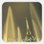 Europa, Francia, París, torre Eiffel, igualando Colcomania Cuadrada