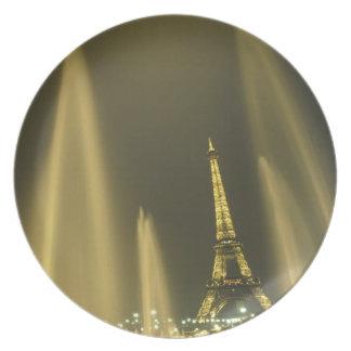 Europa, Francia, París, torre Eiffel, igualando Plato De Comida