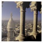 Europa, Francia, París, vista de París a través Azulejo Cuadrado Grande