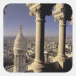 Europa, Francia, París, vista de París a través Pegatina Cuadrada