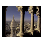 Europa, Francia, París, vista de París a través Póster