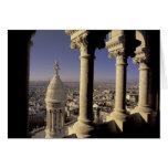 Europa, Francia, París, vista de París a través Tarjeta De Felicitación
