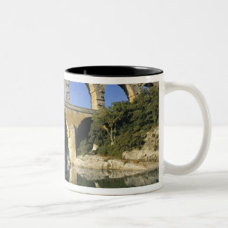 Europa, Francia, Pont du Gard. Pont du Gard, Taza De Café De Dos Colores