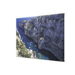 Europa, Francia, Provence, Calanques. Piedra caliz Impresiones En Lona Estiradas