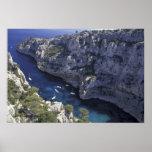 Europa, Francia, Provence, Calanques. Piedra caliz Posters