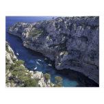 Europa, Francia, Provence, Calanques. Piedra caliz Tarjeta Postal