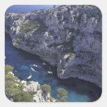 Europa, Francia, Provence, Calanques. Piedra Calcomanía Cuadradas