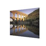 Europa, Francia, Provence, Gard; Pont du Gard, Impresión En Lona