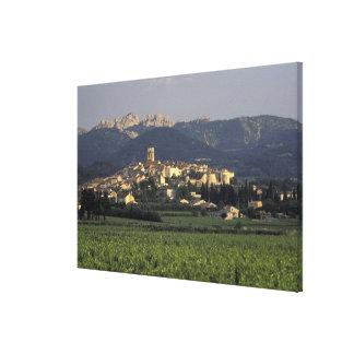 Europa, Francia, Provence, Vaucluse, SSablet, Impresión En Lona Estirada