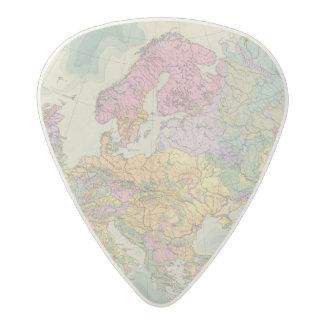 Europa - Geologic Map of Europe Acetal Guitar Pick