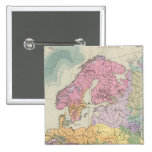 Europa - Geologic Map of Europe 2 Inch Square Button