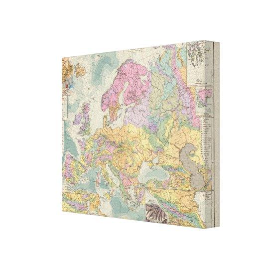 Europa - Geologic Map of Europe Canvas Print