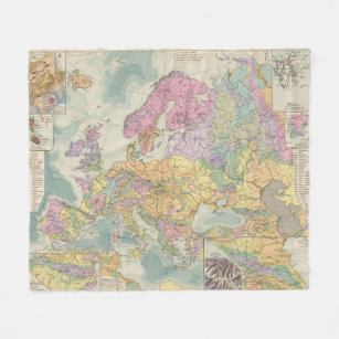 Geologic Map Of Europe.Make Your Own Geologic Map Blanket Bundle Up In Yours Today Zazzle