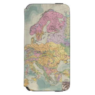 Europa - Geologic Map of Europe iPhone 6/6s Wallet Case
