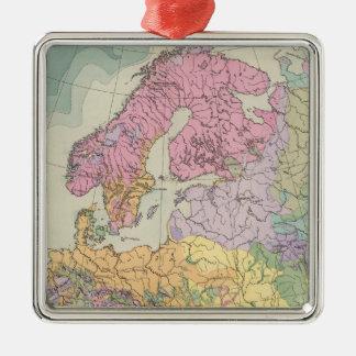Europa - Geologic Map of Europe Metal Ornament