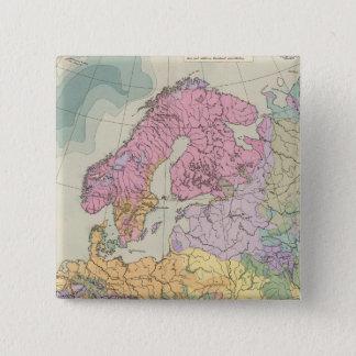 Europa - Geologic Map of Europe Pinback Button