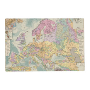 Geologic Map Of Europe.Geological Map Placemats Zazzle