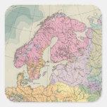 Europa - Geologic Map of Europe Square Sticker