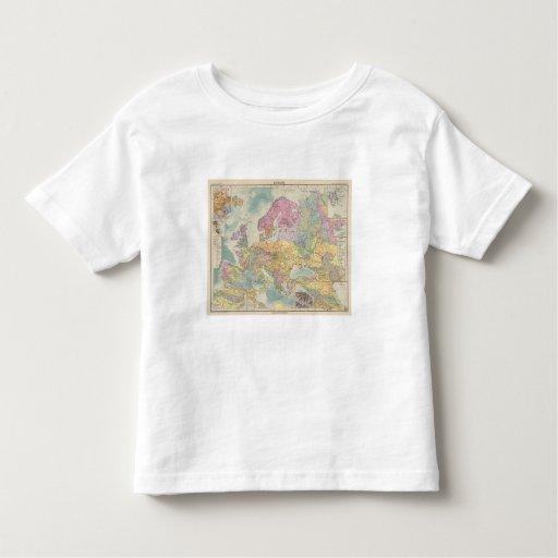 Europa - Geologic Map of Europe T-shirts