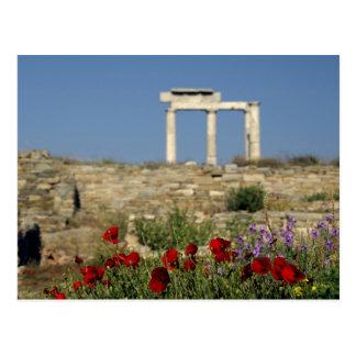 Europa, Grecia, Cícladas, Delos. Ruinas de la Tarjetas Postales