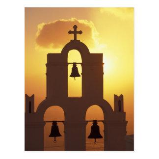 Europa, Grecia, islas de Cícladas, Santorini, Tarjeta Postal